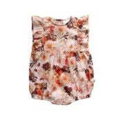 Baby Girls August Romper - Dahlia Flamingo