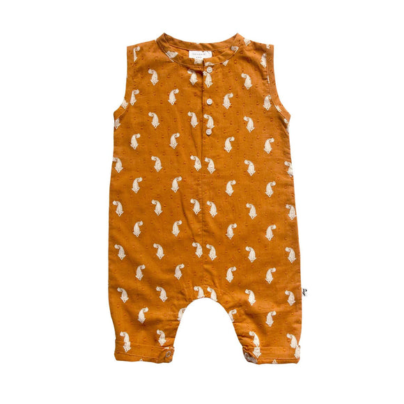 Phoenix And The Fox May Romper - Indian Paisley Cinnamon