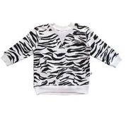Boys Dakota Pullover - White Tiger Stripe