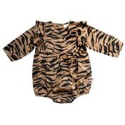 Baby Girls Georgia Romper - Tiger Stripe