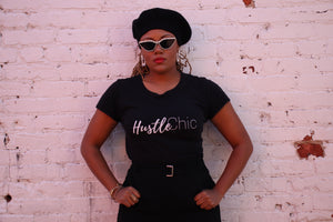 """HUSTLE CHIC ""Women's short sleeve t-shirt"
