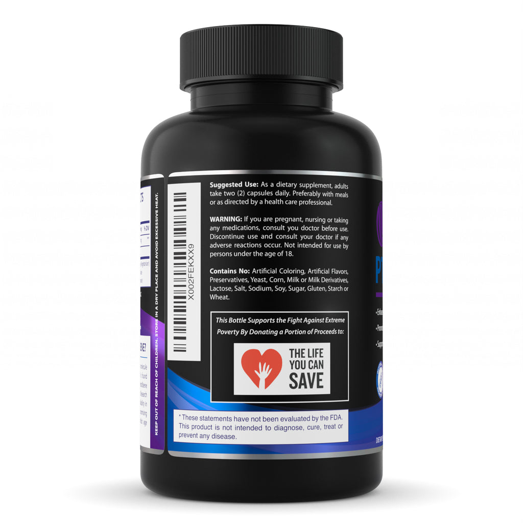 New! Pure Affinity's Pterostilbene! Max Strength, 100 Veggie Capsules 200mg