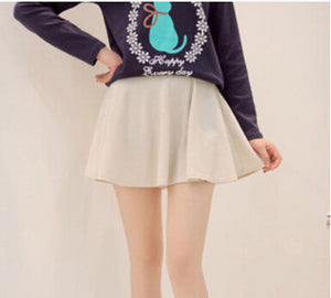 1c0946963d Summer Style Korean Version Skirts Safty Mini Skirt Women's Spring and  Summer Solid High Waist Pleated