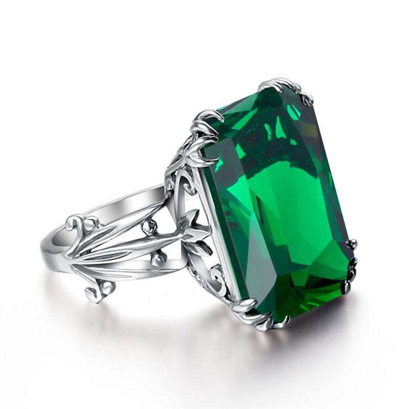 ... Szjinao Fashion Bulgaria Jewelry Green Vintage Charms 100% 925 Silver  Female Ring Crystal Wholesale Authentic ...