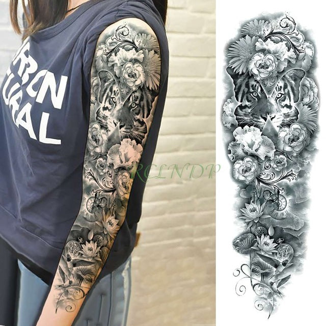 bd4288d5c ... Waterproof Temporary Tattoo Sticker full arm large size old school cool  girl tatto sleeve flash tatoo ...