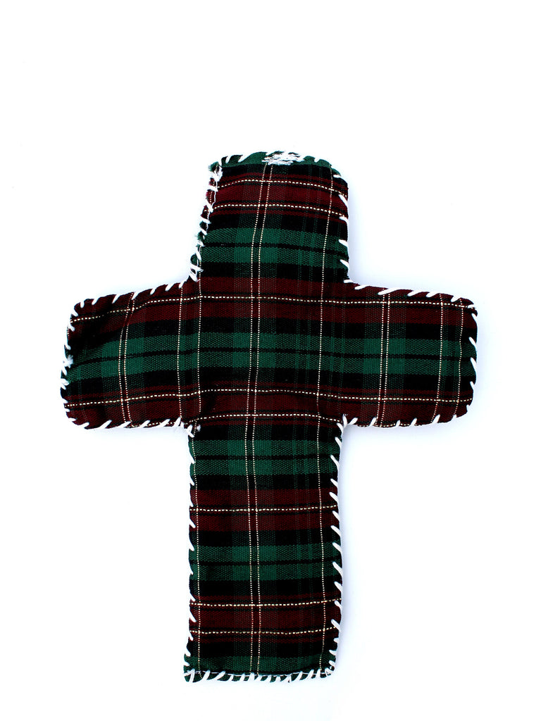Cross Plaid Ornament