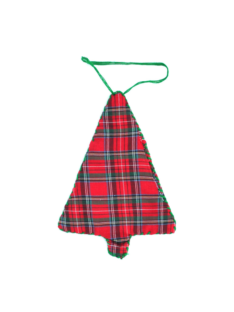 LIMITED EDITION: 'CHRISTMAS' TREE ORNAMENT (PLAID)