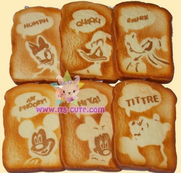 Rare 2013 Scented Disney Character Toast Squishy!