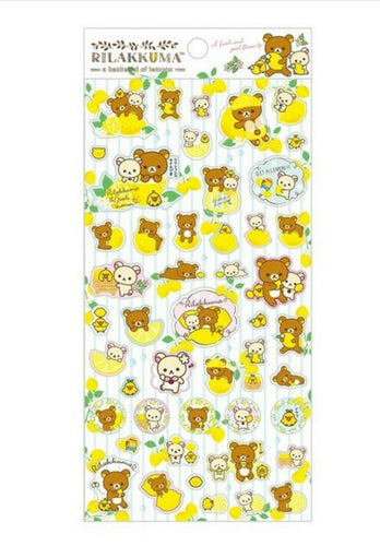 Rilakkuma A Basketful of Lemons Stickers (White)