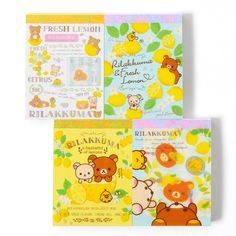 Rilakkuma A Basketful of Lemons Small Memo Pad