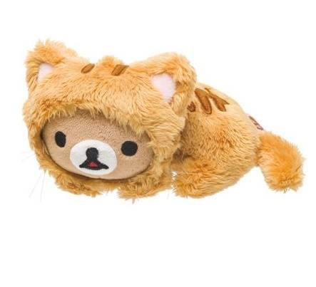 2014 Rilakkuma Cat Theme Plush Dolls. Small