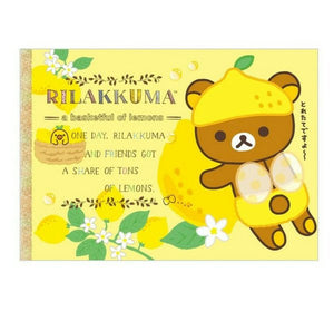 Rilakkuma A Basketful of Lemons Large Memo Pad With Sticker Sheet (Yellow)