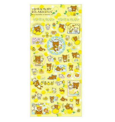 Rilakkuma A Basketful of Lemons Stickers (Yellow) front
