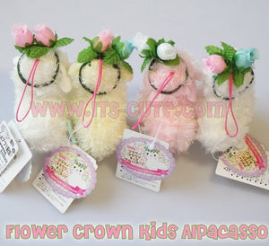 8cm Mini Flower Crown Kids Alpacasso Alpaca Doll