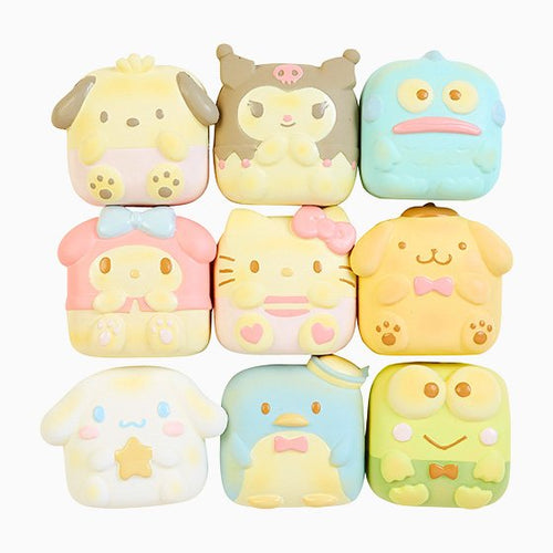 Sanrio Japan Verso Character Pull Apart Bread Squishy with Ball chain.