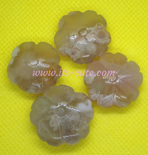 Cherry Blossom Agate Sakura Flower Shape Crystal