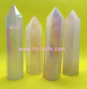 Angel Aura Rose Quartz Crystal Tower