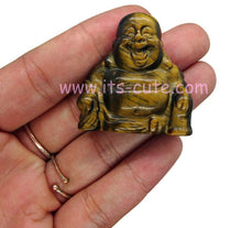 Hand Carved Crystal Happy Buddha Tiger Eye