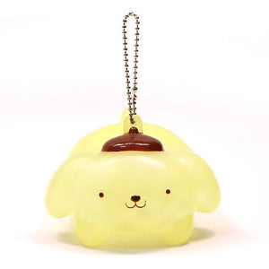 Sanrio Smiles Character Water Jelly Orbeez Squeeze Toy with Ball Chain.