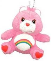 Small Care Bears Plush Dolls with Ball Chain Close-up
