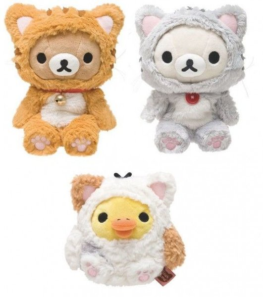 2014 Rilakkuma Cat Theme Plush Dolls. Medium
