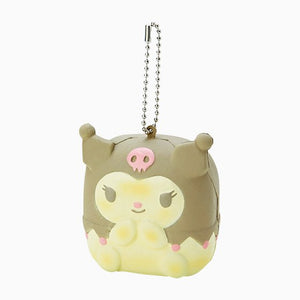 Sanrio Japan Character Pull Apart Bread Squishy with Ball chain.