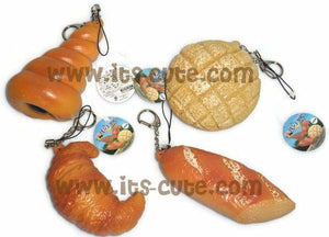 Big bread theme squishy & stretchy toy with straps.