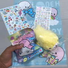 Rare 5pcs Sanx Mamegoma Plush, Stickers!