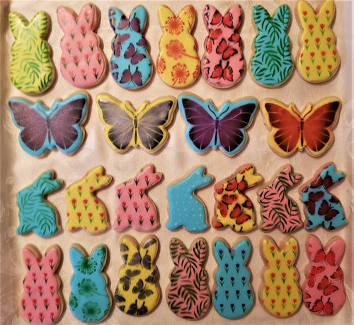 20 Hand-Decorated Easter Cookies
