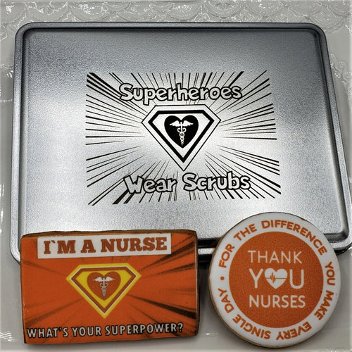 Nurses are Superheroes Cookie Gift Box