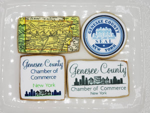 The Custom Corporate Logo Cookie Box