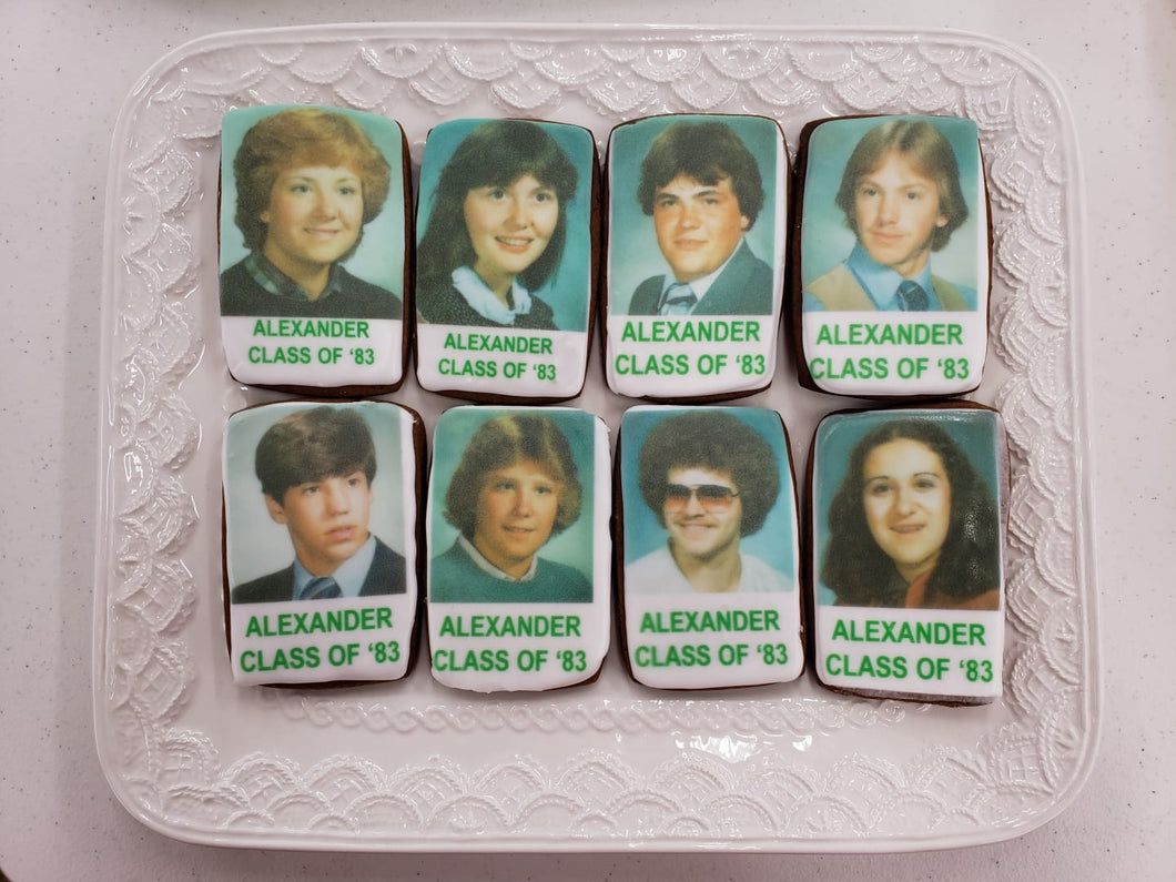 Custom Reunion Photo Cookies