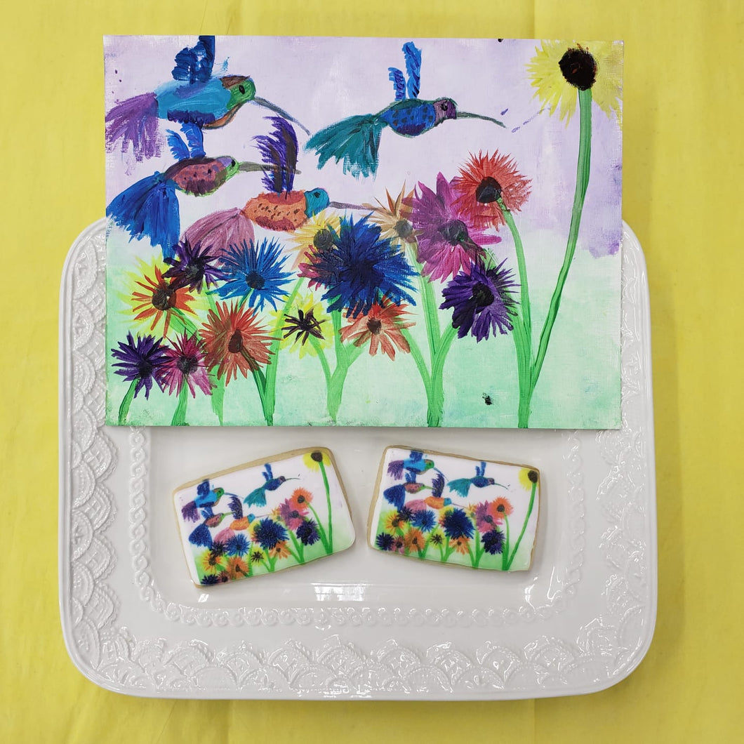 Your Child's Artwork on Cookies