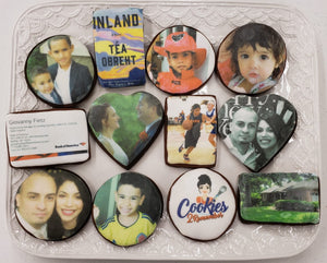 20 Photo Cookies - Your Photo(s), Any Shape