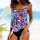 Bathing Suit Bikini Plus Size Printed Tankini