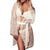Wedding short women  kimono bathrobe