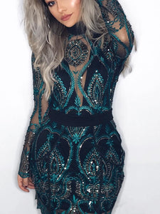 New 2020 Women Summer Sexy Elegant Bodycon Mini Dress Female Prom Premium Open Back Sequins Cocktail Party Dress Elegance