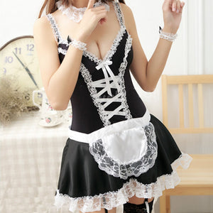 Sexy Maid Wear Home Suit Sexy Dress  Erotic Lingerie Uniform Temptation Babydoll Sexy Lingerie Plus Size Porno Exotica Ropa D5