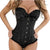 Women Sexy Plus Size Corset Overbust Bustier G-String&Black Stocking