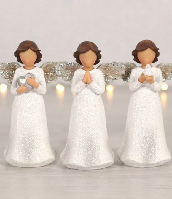 Peace Pray Love, Set of 3 Child Angels