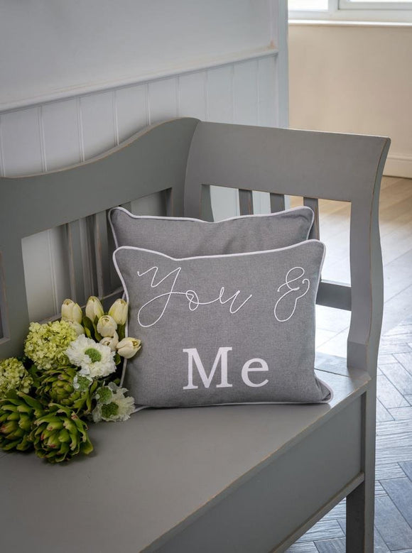 Dove Grey You & Me Cushion