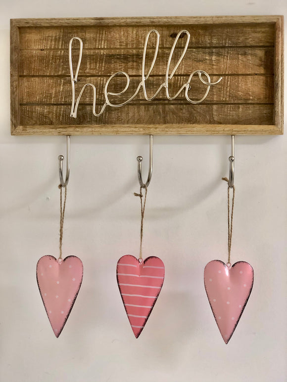Pink Hanging Heart (set of 2)