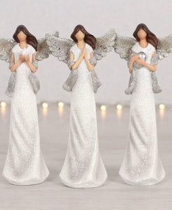 Peace Pray Love Set of 3 Angels