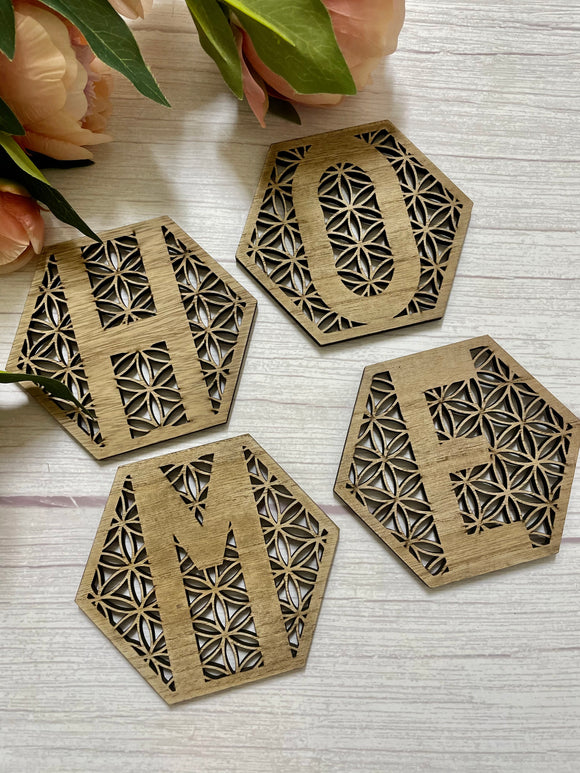 Home Cut Out Coasters