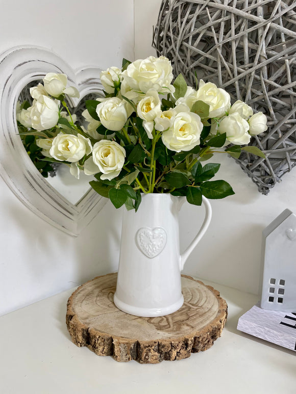 Rose White (2 Bunches) 44cm