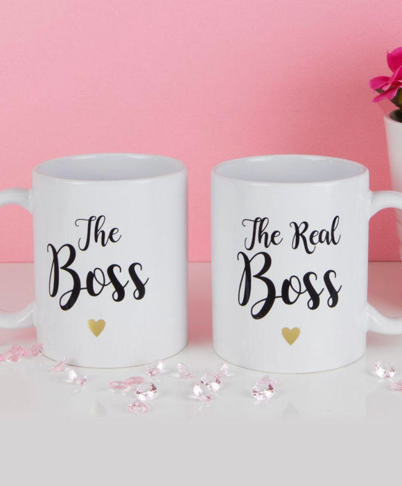 Set of 2 The Boss and The Real Boss Mugs