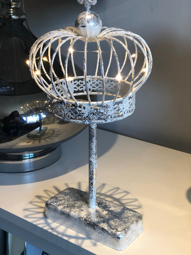 Wire Round Crown With Lights