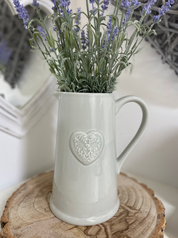 Ceramic Heart Embossed Jug