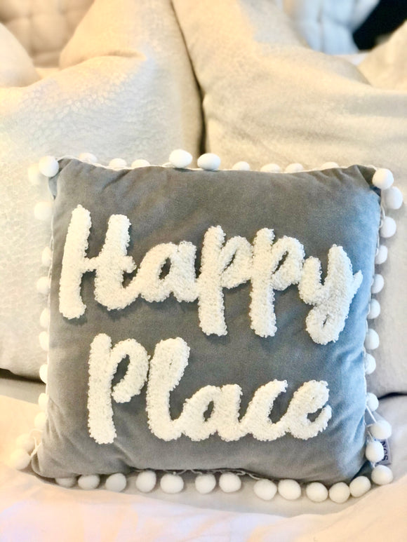 **COMING BACK SOON** Happy Place Cushion 27.5cm