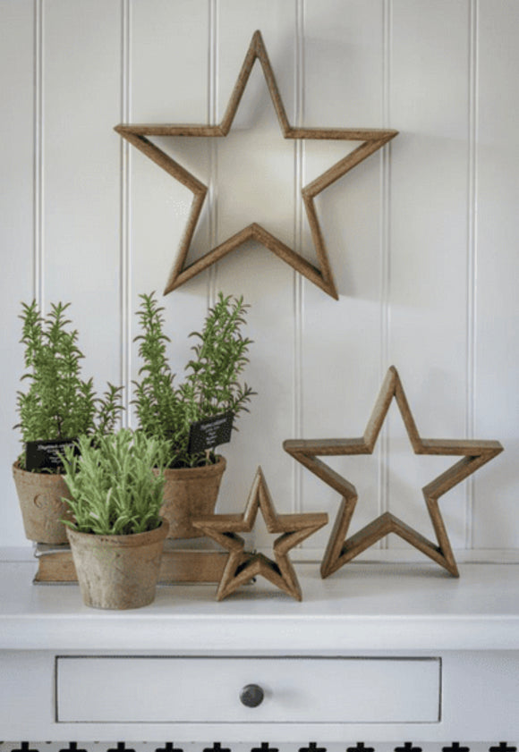 Natural Mantlepiece Stars (set of 3)